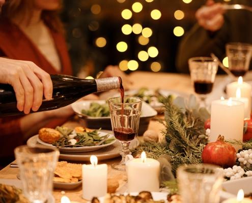 застолье, новогоднее меню